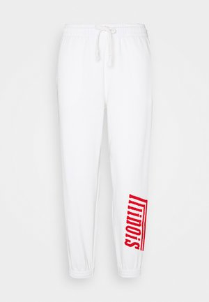 ILLINOIS - Tracksuit bottoms - white