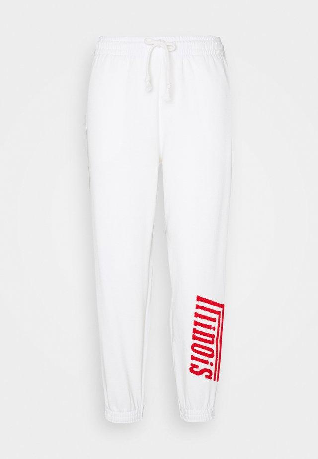 ILLINOIS - Pantaloni sportivi - white
