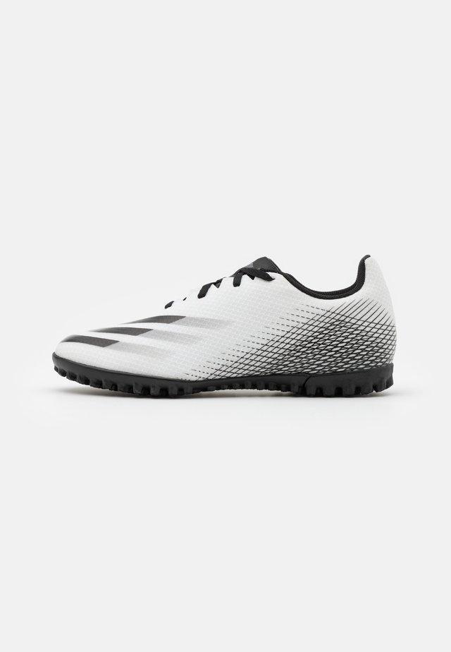 X GHOSTED.4 FOOTBALL BOOTS TURF - Voetbalschoenen voor kunstgras - footwear white/core black/silver metallic