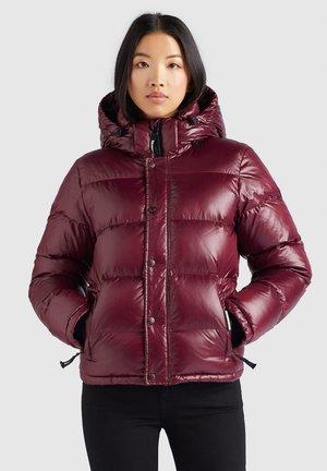 CAMILLE - Winter jacket - weinrot glänzend