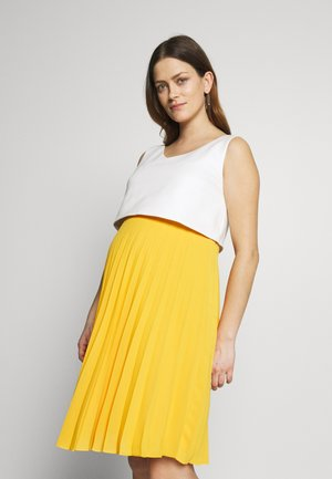 TIPHAINE - Vestido informal - white and yellow