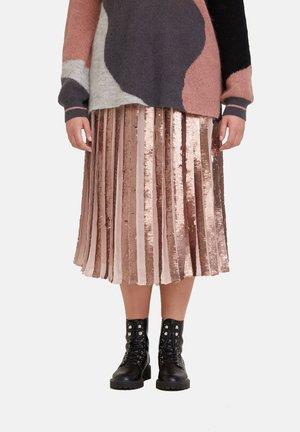 MIT PAILLETTEN - A-line skirt - rosa