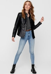 ONLY - Giacca di pelle - black - 1