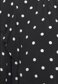 GAP Petite - RUFFEL SHOULDER - Blouse - black - 5