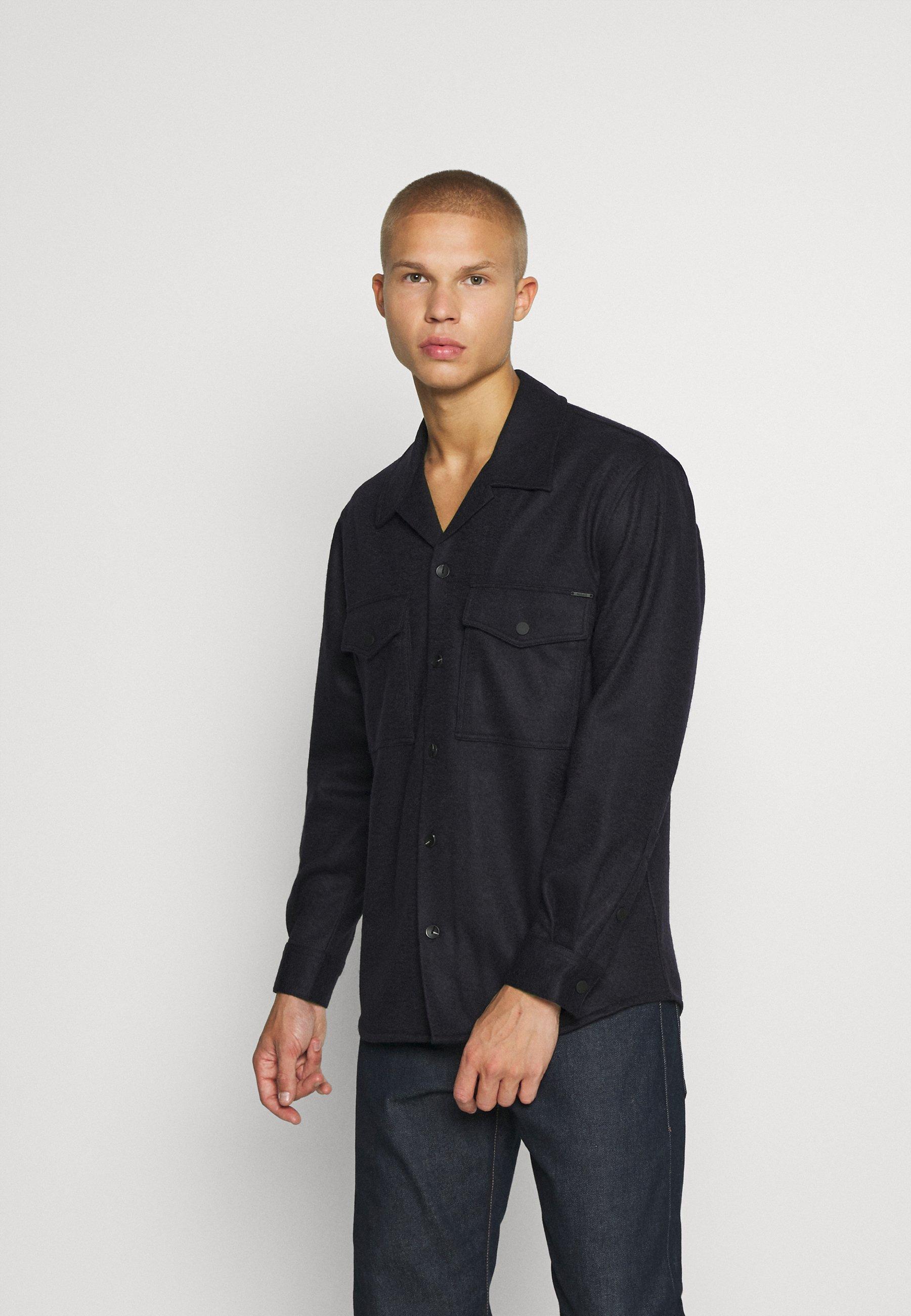 Uomo SHIRT IN BLEND FABRIC - Camicia
