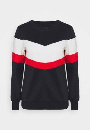 ONLDAKOTA JALENE O NECK - Sweatshirt - night sky/cloud dancer/fiery red