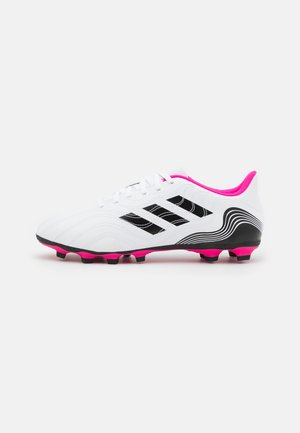 COPA SENSE.4 FXG - Moulded stud football boots - footwear white/core black/shock pink