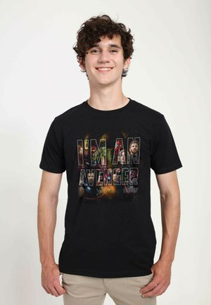 MARVEL UNISEX I AM AN AVENGER  - T-shirts print - black