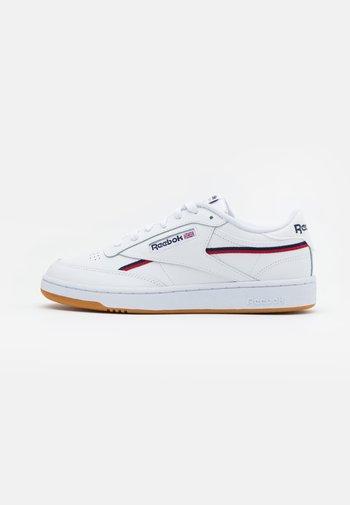 CLUB C 85 - Sneakers basse - white/collegiate navy/red