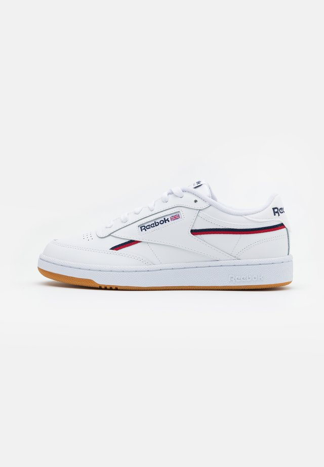 CLUB C 85 - Sneakers basse - white/collegiate navy/red