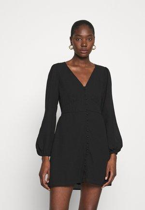 DRAMA BUTTON MINIDRESS - Day dress - black