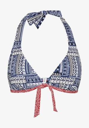 WIRE NECKHOLDER - Bikini top - blue/red