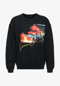 Mennace - BURNING CAR GRAPHIC  - Sweatshirt - black - 3