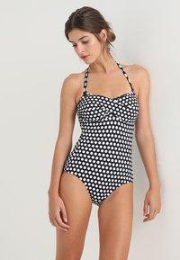 Esprit - CROSBY BEACH PAD BANDEAU SWIMSUIT - Swimsuit - black - 1
