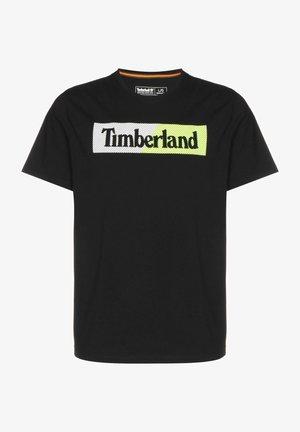 Print T-shirt - black safety