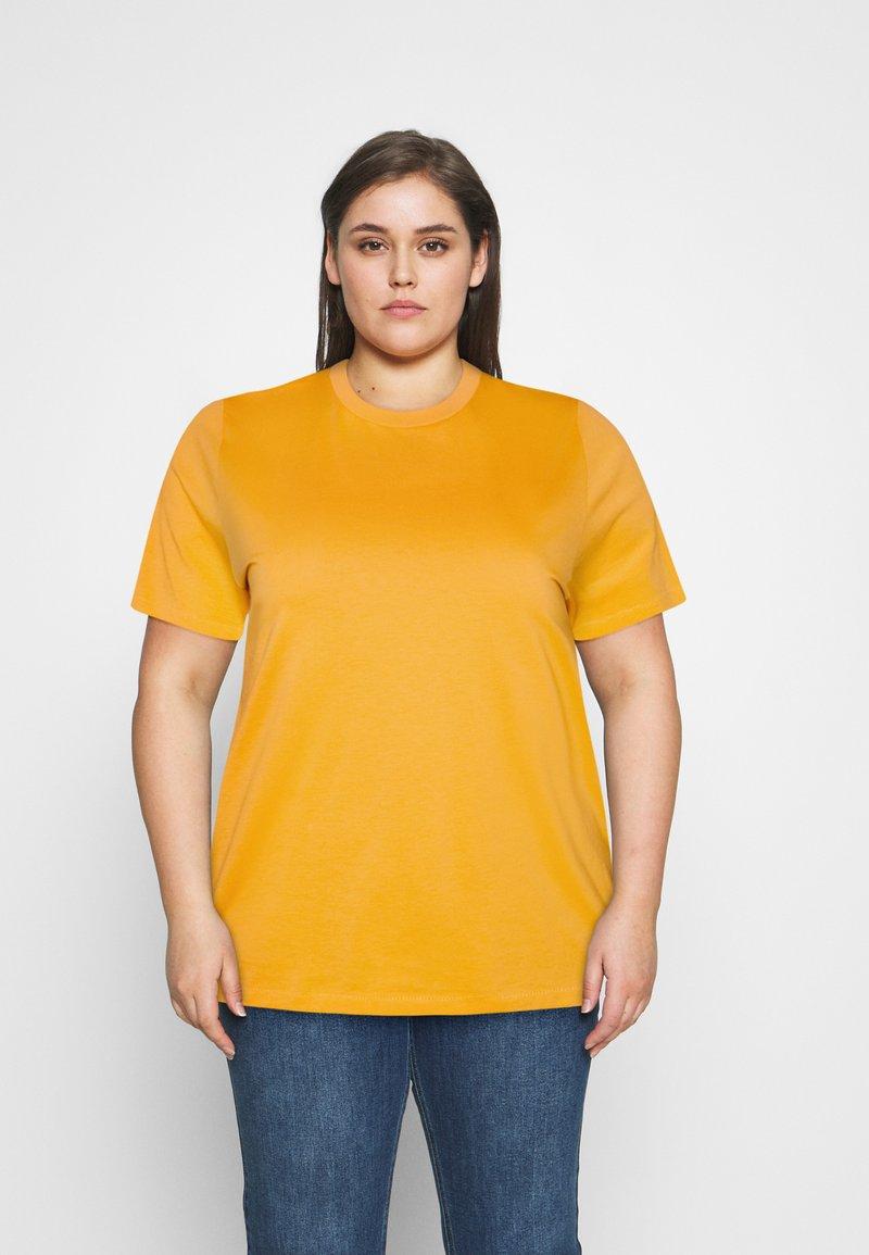 Selected Femme Curve - SLFPERFECT TEE BOX CUT - Jednoduché triko - citrus