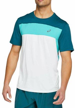 Sports shirt - weiss / blau