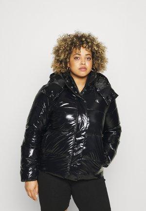 HIGH SHINE PUFFER - Winter jacket - ck black