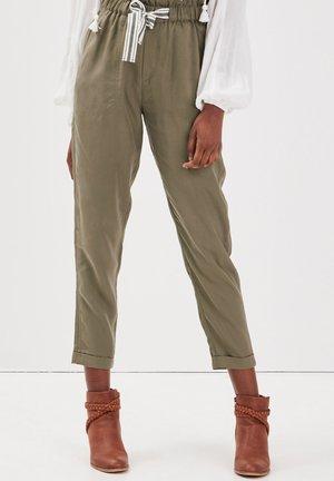 MIT HOHER TAILLE - Trousers - vert kaki