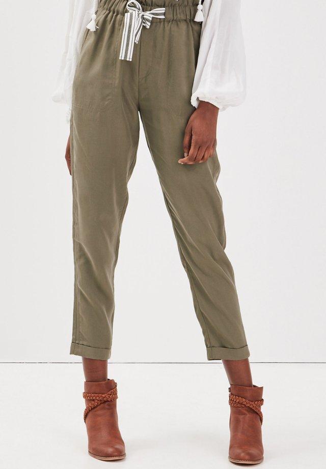 MIT HOHER TAILLE - Pantaloni - vert kaki