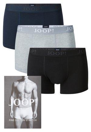 3 PACK - Pants - blue, grey, black