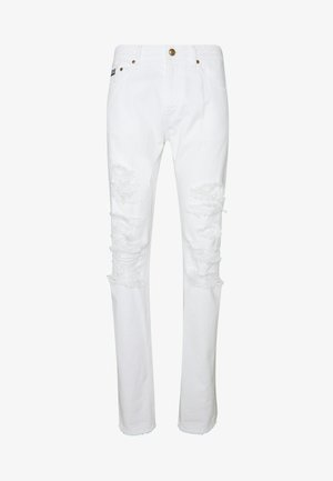 MILANO DESTROYED - Jeansy Slim Fit - white