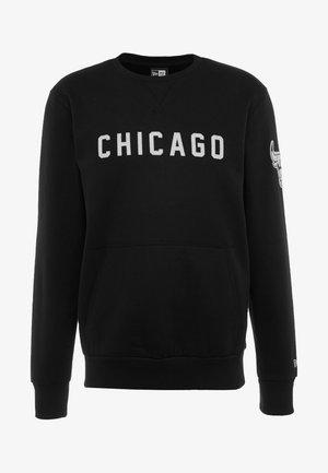 NBA WORDMARK CREW CHICAGO BULLS - Klubové oblečení - black
