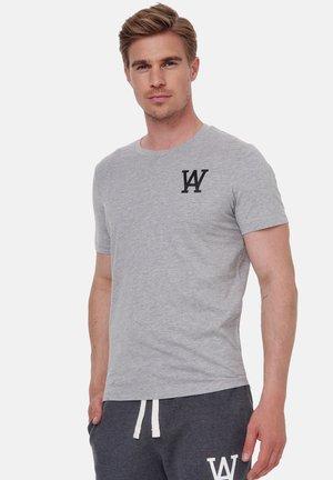 T-shirt print - grau-schwarz
