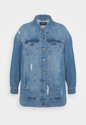 NMFIONA JACKET - Short coat - light blue denim