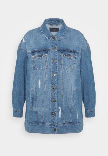 NMFIONA JACKET - Short coat - light blue denim