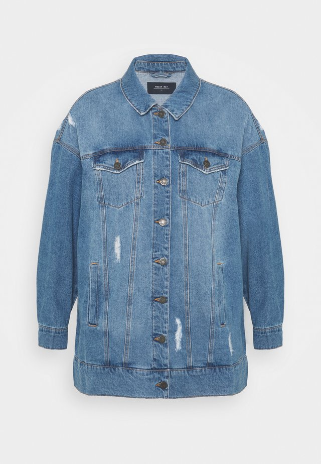 NMFIONA JACKET - Krátký kabát - light blue denim