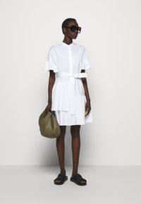TWINSET - ABITO MORBIDO IN COMFORT - Shirt dress - bianco ottico - 1