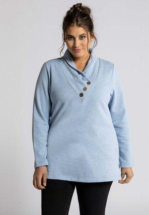 Sweater - himmelblau-melange