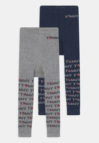 Tommy Hilfiger - BABY 2 PACK UNISEX - Leggings - Stockings - light grey melange - 0