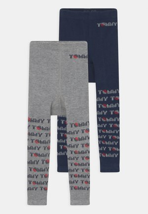 BABY 2 PACK UNISEX - Leggings - Stockings - light grey melange