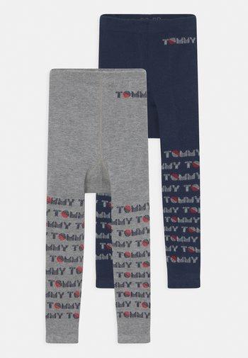 BABY 2 PACK UNISEX - Leggings - Stockings - light grey melange