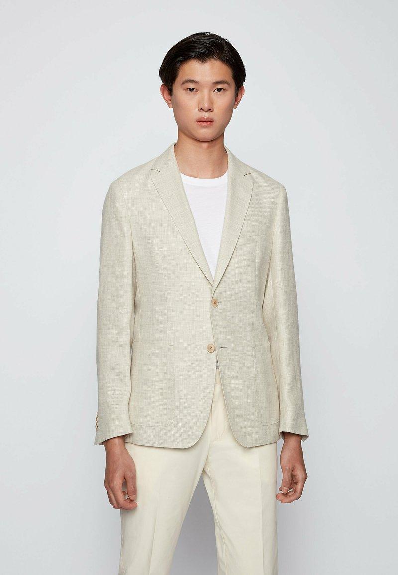 BOSS - Blazer jacket - natural
