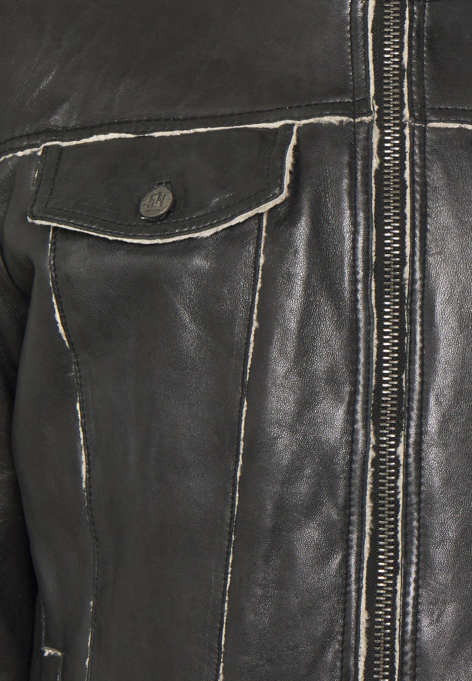 Men NILS - Leather jacket