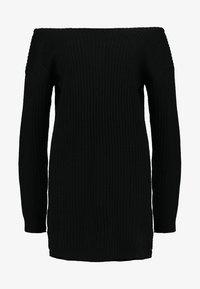 Missguided - AYVAN OFF SHOULDER - Robe pull - black - 3