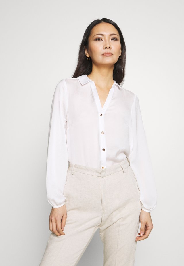 WHITE BUTTON THROUGH SHIRT - Blouse - white