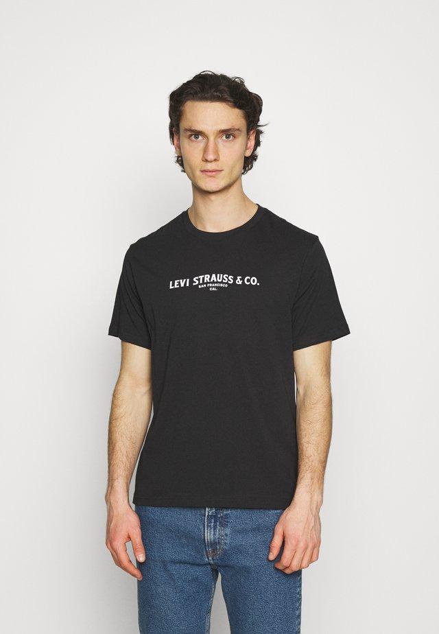 TEE UNISEX - Print T-shirt - caviar