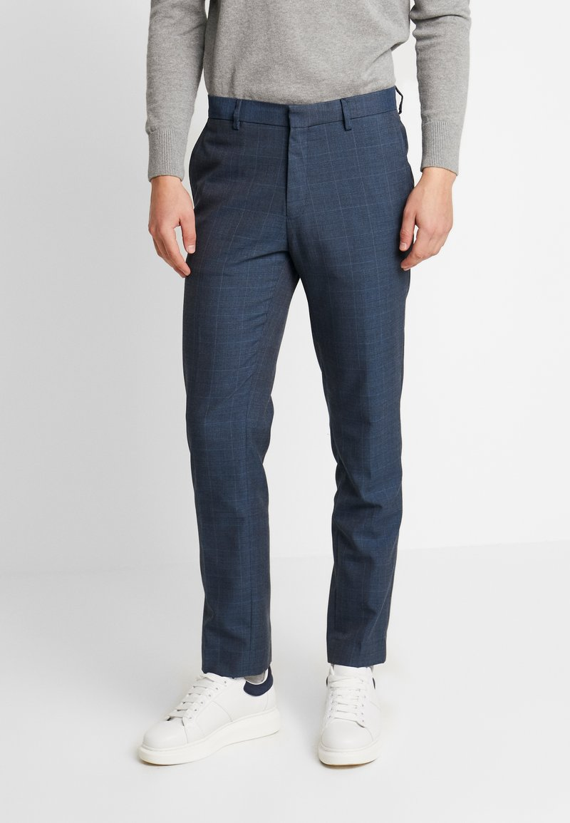 Burton Menswear London - HIGHLIGHT CHECK - Pantalon classique - blue
