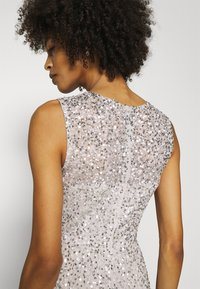Maya Deluxe - ALL OVER EMBELLISHED MAXI DRESS WITH TRAIN - Iltapuku - soft grey - 5