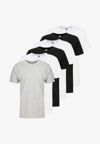 BASIC TEE 6 PACK - T-shirts basic - white/black/grey