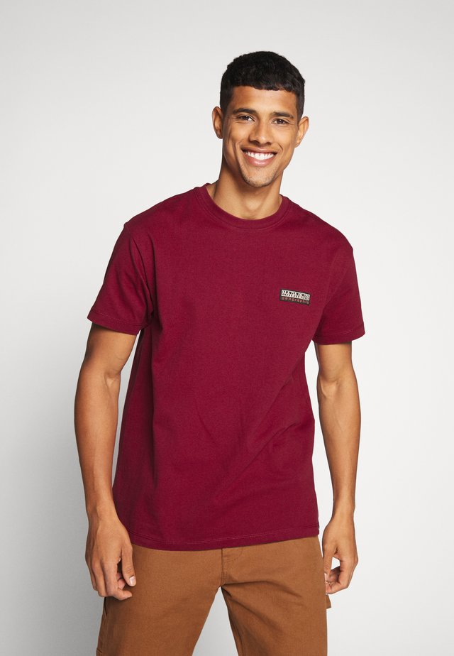 SASE - T-shirt imprimé - cherry bordeaux