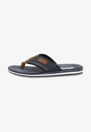 T-bar sandals - almond navy navy black