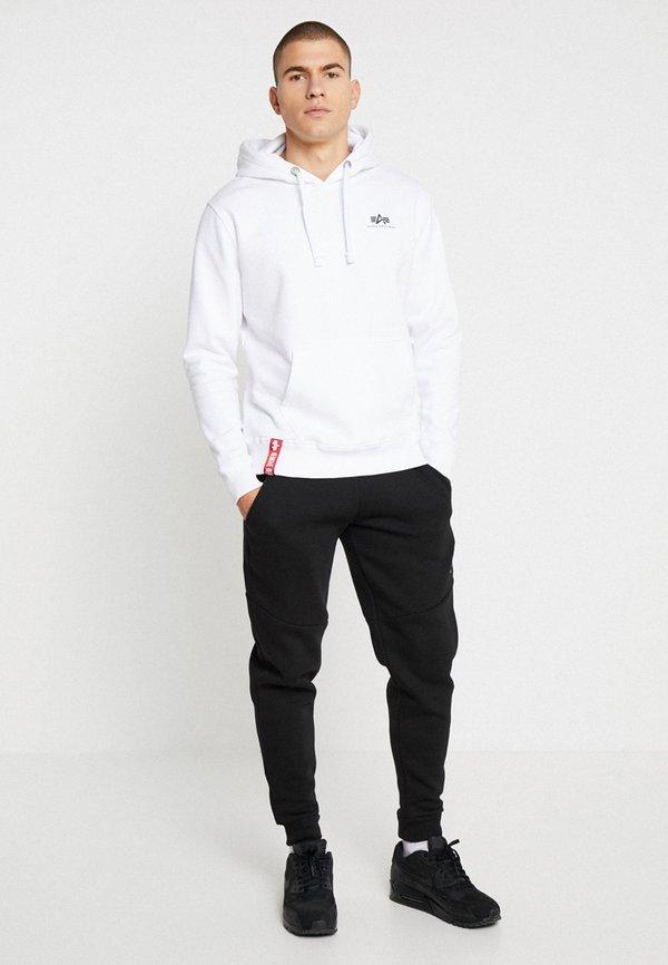 Alpha Industries BASIC HOODY SMALL LOGO - Bluza z kapturem - white/biały Odzież Męska ATBO