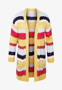 ONLY Carmakoma - CARMETA LONG - Cardigan - hot sauce/multicolour stripe - 3
