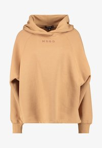 Missguided - LOOPBACK DRAWSTRING HOODY - Jersey con capucha - camel - 3