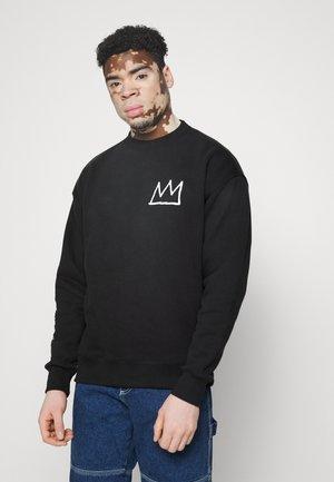 BASQUIAT CREW UNISEX - Sweatshirt - black